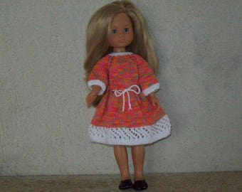 cotton dress, knitted by hand for 32 33 cm dolls, compatible with the girls