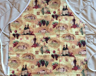 Adult Sized Wine Reversible Apron