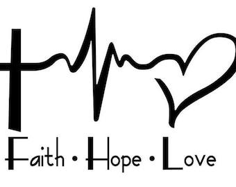 Faith • Hope • Love CarDecal