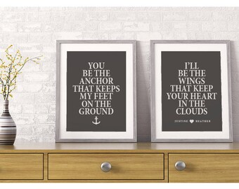 Bedroom Wall Decor Anniversary Gift Husband and Wife Decor Master Bedroom Decor Romantic Quotes Gift For Couple Personalized Wedding Gift