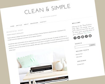 Wordpress Theme - Clean and Simple