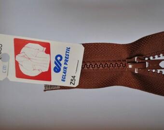 80cm separable zipper nutmeg Brown Z54 985-mesh plastic molded