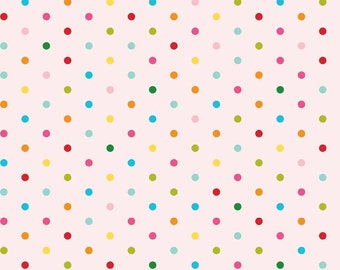 1/4 Yard Riley Blake Sunny Happy Skies Dots Pink, Quantities Available