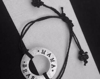Mama Bear Washer Bracelet