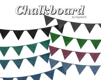 Chalkboard bunting clipart Bunting clip art Digital chalkboard clipart Bunting graphic bunting png Digital clipart digital png