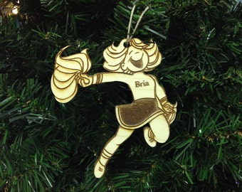 Cheerleader 1 Personalized Christmas Ornament