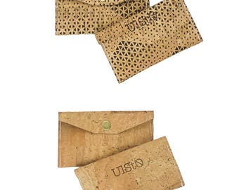 Turneri purse//different colors//cork Vegan leather wallet business card Case Ulsto