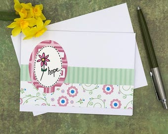 Hope Note Card Set, Set of 5 Blank Notecards, Hope Stationery, Notecard Set, Handmade greeting cards, Blank greeting cards