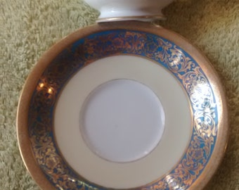 Noritake Blue Vornay Pattern Coffee Cup and Saucer Set