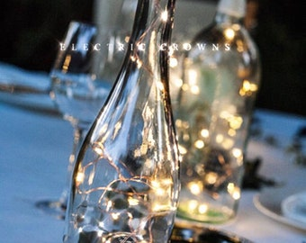 Diy wedding lantern wedding centerpiece wine bottle decor wine bottle centerpieces for weddings wine bottle decor wine theme fairy lights junglespirit Images