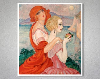 On the Road to AnaCapri  by Gerda Wegener -  Poster Paper, Sticker or Canvas Print / Gift Idea