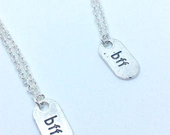 Best friends necklace set, best friends jewelry, best friend necklace set, silver plated best friends necklace set, bff necklace, bff gift