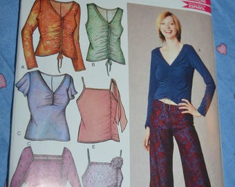 New Look 6204 Misses Tops Sewing Pattern - UNCUT - Size 6 - 16