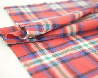 Yarn Dyed Plaid Cotton Fabric - By the Yard 67794