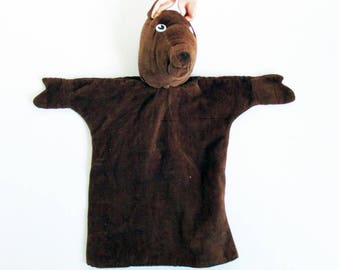 Mid Century Hand Puppet, Hand Made, Corduroy Horse
