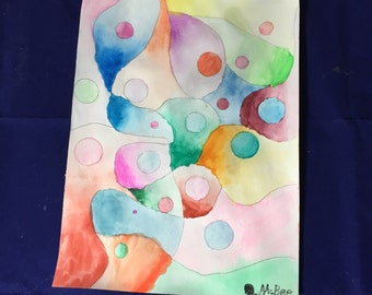 Dots-Watercolor on paper