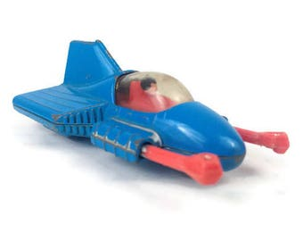 """1979 DC Comics Superman Blue Red Corgi Supermobile Metal Toy Die Cast Made in Great Britain Vintage Tested Works 3"""""""