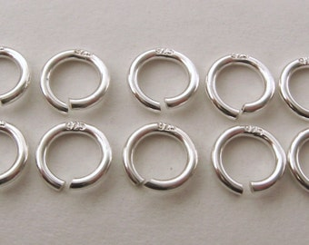 10x Stamped 925 Genuine SOLID STERLING SILVER jump rings for charm/pendant 6mm Diameter