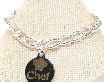 Chef Bracelet  Cook Gift  Cooks Bracelet Chef Gift Cooks Gift Culinary Jewelry Culinary Gift  Chef Charm Gift for a Chef