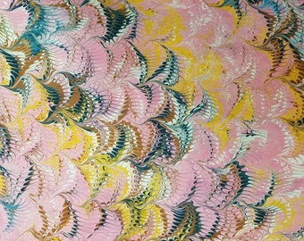 Marbled Paper #22 18x22- Reverse Wave