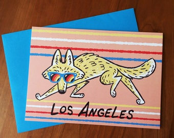 Los Angeles Coyote Card
