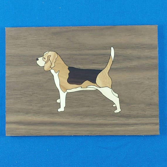 """Beagle 5""""x 7"""" Marquetry Kit"""