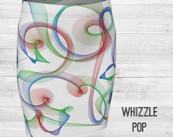 Whizzle Pop Fitted Skirt