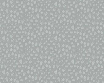 Fossil Rim - Footprint Gray by Deena Rutter for Riley Blake Designs, 1/2 yard, C6615-Gray