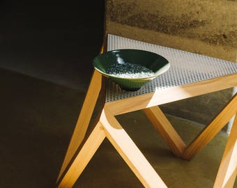 Tre side table, coffee table, end table, perforated steel top