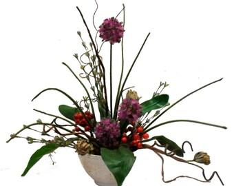 Allium & Red Berry Arrangement