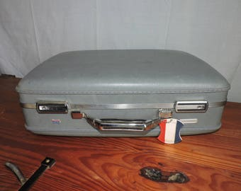 Vintage American Tourister Hard Shell Suitcase Gray