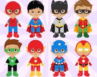 African American Superhero Clipart, African American Superhero Clip art
