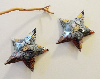 Madbeach American Wheat Beer Stars : Beer Is My Friend, Shark, Christmas Ornaments, Aluminum Can Upcycled, Aviator Brewing Company, Man Cave
