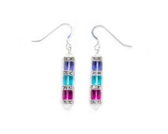 Swarovski Elements 3 Cube earrings