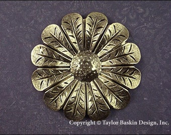Grande fleur bijoux trouver en plaqué or Antique (article 588 amp) - 1 pièce