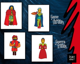 GAME of Thrones (all 4 or individually) * * Fine Art prints, illustration, Wall Decoration, Books * * War of the thrones