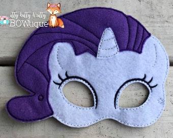Rarity, My Little Pony inspired mask.