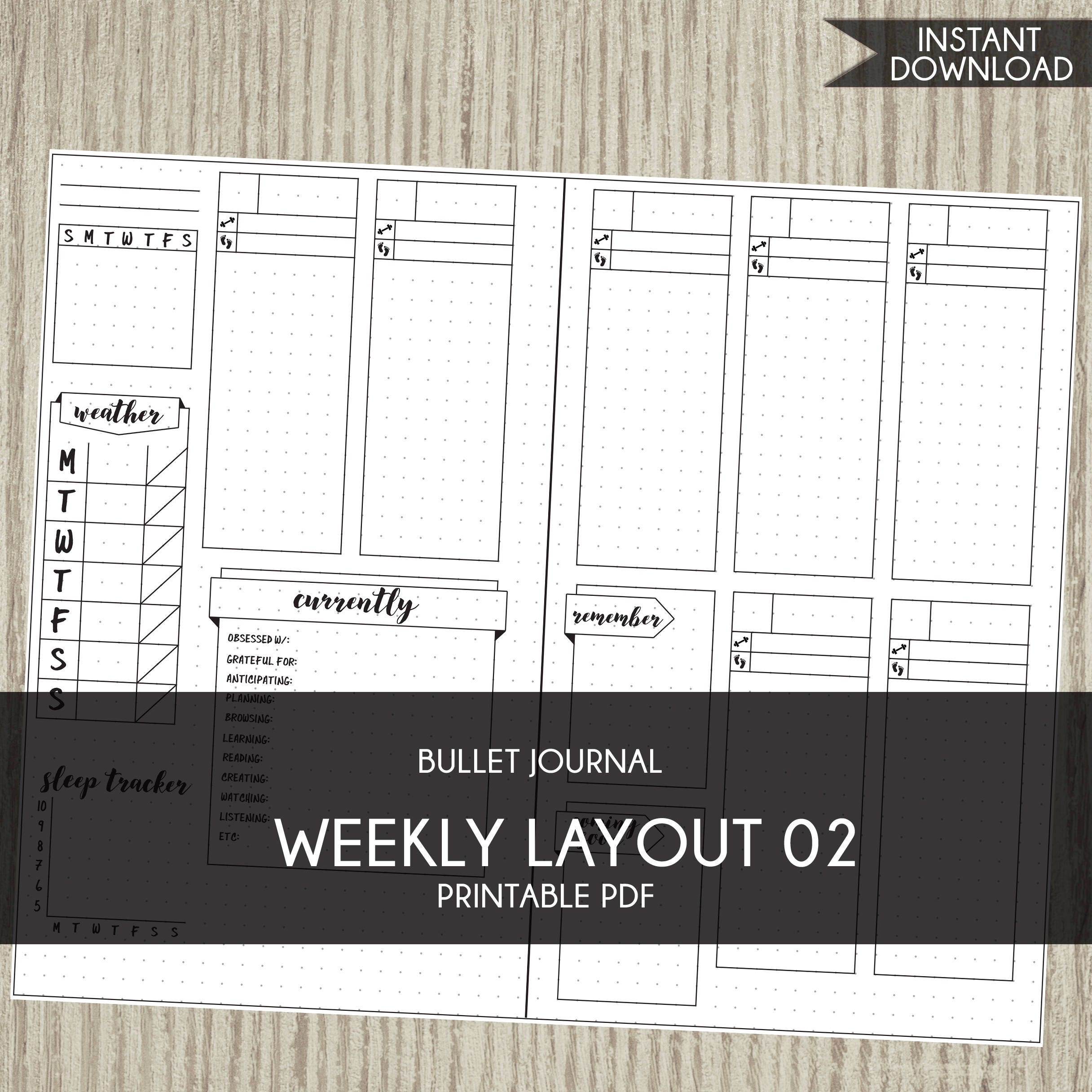 This is a photo of Magic Bullet Journal Template Pdf