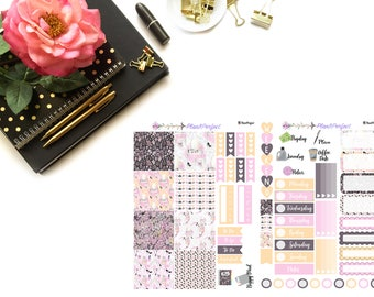 Girly Kit// MINI HP Weekly Kit// 2 sheets of planner stickers