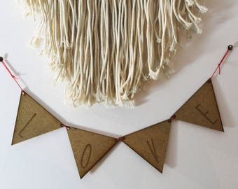 Pennant letter or heart or star
