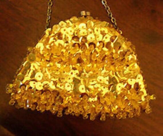 Gold VTG Sequin Bag by Terner's