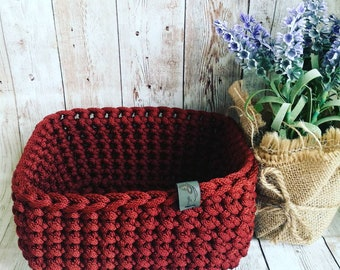 Crochet basket, Storage basket, Home storage,  Home decor,  Bathroom storage, Storage bin, Rope basket, Nursery storage, Decorative storage,