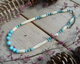 Necklace Native American Turquoise 100% natural Walker