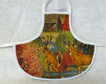 Bottle Apron in Hunting Motif from The Farmer's Daughter