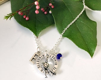 Personalized Ringette Necklace