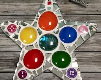 Fun Lily Mosaics D.I.Y. Mosaic Christmas Star Kit for adults and children