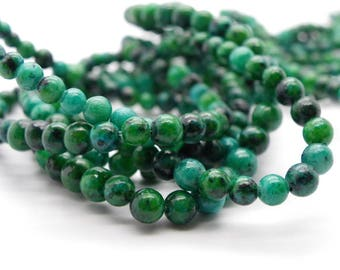 50 4 mm chrysocolla stones has round natural gemstones