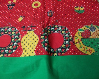 charming border print cotton fabric