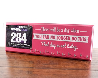 Race Bib and Medal Hanger - Inspirational display for your race bibs and medals.