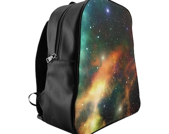 Galaxy School Backpack, Custom Printed Bag, Galaxy Bag, School Bag, Custom Backpack, Custom Printed, Made To Order, School Supplies